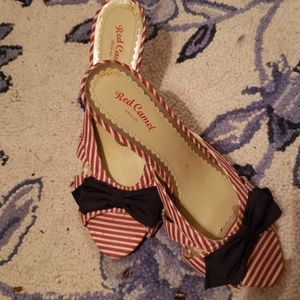 Red, white and blue heels by Red Camel, nwob,